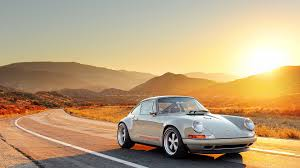 orange porsche 911 convertible singer porsche targa wing mirror cars boats and all things