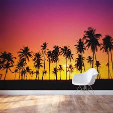 28 sunset wall mural welcome to murals4u com sunset wall sunset wall mural palm tree sunset wall mural