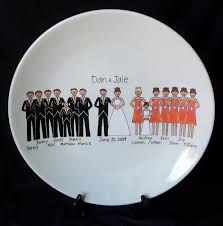 signable wedding platters custom wedding party plate wedding bells are ringing