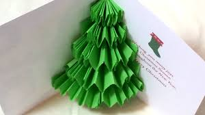 pop up tree 2 ways to make a 3d pop up christmas tree card