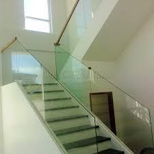 Frameless Glass Handrail 8mm Clear Tempered Glass Railing China Factory 10mm Clear Tempered