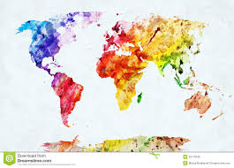 World Map Labled by Watercolor World Map Stock Photos Image 35173193
