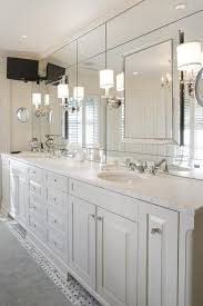 Masters Bathroom Vanity by Hyde Evans Design Bathrooms Benjamin Moore White Master