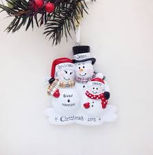 expecting family ornament new baby makes four