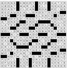 the new york times publishes the new york times published a crossword puzzle constructed by a