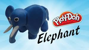 learn how to make elephant for kids using modelling clay play doh