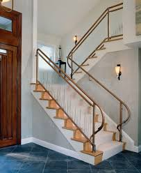 craftsman railing staircase contemporary with copperalmarasma com