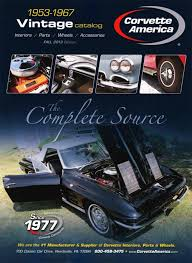 corvette america parts corvette america releases a catalog for 1953 67 corvettes