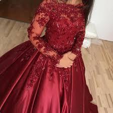 wedding dress maroon vintage muslim burgundy wedding dresses gown beaded lace