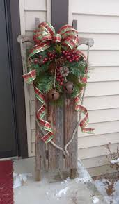Outdoor Christmas Decor Pinterest - best 25 christmas sled ideas on pinterest decorating porch for