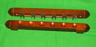 pool table wall rack mahogany 6 cue pool snooker billiard table wall rack cue rest