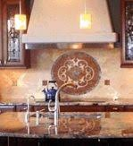 kitchen backsplash metal medallions kitchen mesmerizing kitchen backsplash medallion backsplash