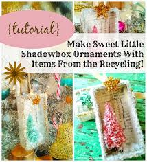 house revivals make vintage style shadowbox ornaments from