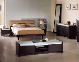 Modern Black Nightstands Bedroom With Brick Wallpaper Ikea Double Cabin Bed Super King