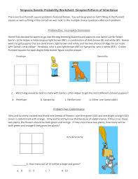 genetics problems worksheet and answers worksheets