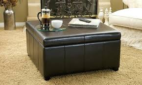 ottoman leather square storage ottoman woodland bonded leather