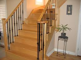 Wrought Iron Railings Interior Stairs Stair Artistic Half Turn Staircase Design Ideas With Black Iron