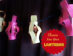 chinese new year kids craft paper lanterns