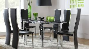 Black Extending Dining Table And Chairs Black Glass Extending Dining Table And Chairs Dining Table Set