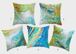 theme pillows abstract coastal theme pillow cases teal blue green cushions