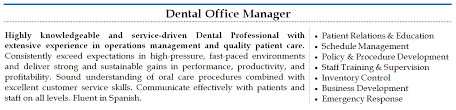 office manager resumes dental office resume paso evolist co