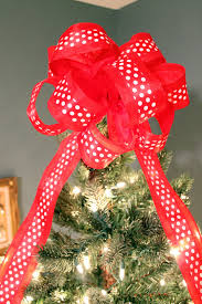 christmas tree bows christmas tree with bow topper christmas lights decoration