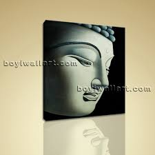 Home Decor Wall Art Feng Shui Painting Abstract Buddha Head Stately Home Decor Wall