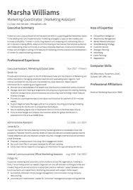 sample resume for marketing assistant fancy marketing assistant