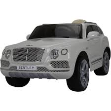 bentley white and black licensed bentley bentayga 12v children u0027s battery operated electric