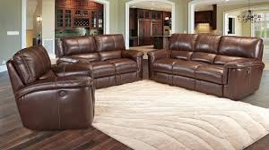 Power Reclining Sofa Set Living Hitchcock Cigar Brown Leather Reclining Sofa Set