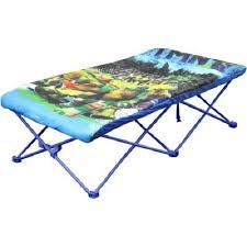 Toddler Folding Bed Portable Bed For Kids Camping Cots Travel Ninja Turtle Bed Boys