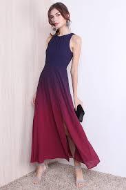 ombre maxi dress restocked gabriella ombre maxi dress in violet magenta xs s m l