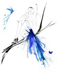 bluebird yoco nagamiya fashion illustration pinterest