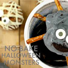 No Bake Halloween Treats by No Bake Halloween Monsters Wanna Bite