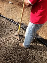 Installing Pea Gravel Patio Progress On A Fall Backyard Project The Pea Gravel Patio The