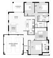 House Plans Single Story 3 Bedroom House Floor Plans Surripui Net