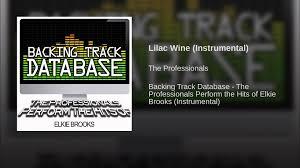 lilac wine instrumental youtube