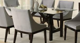 Dining Room Furniture  Glass Top Round Dining Table Applying - Dining room table glass