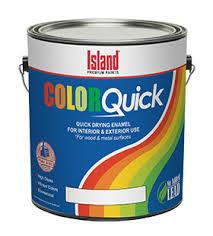 colorquick quick dry enamel island paints