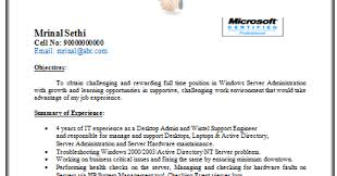 Sample Resume For Experienced Desktop Support Engineer by Desktop Support Engineer Resume Sample Desktop Engineer