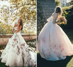 floral wedding dresses how to choose a colored wedding dress lunss couture