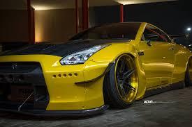 Nissan Gtr Gold - dub magazine rocketbunny gt r on adv wheels