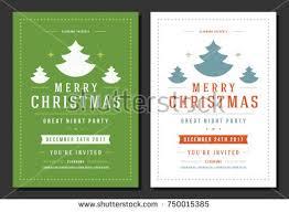 christmas party invitation retro typography ornament stock vector