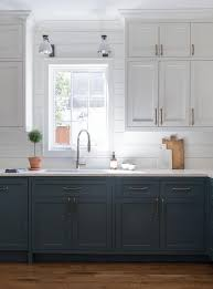 blue bottom and white top kitchen cabinets white top cabinets and blue bottom cabinets design ideas