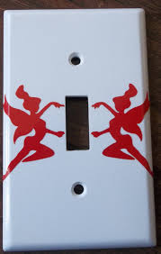 Pictures For Bathroom Wall Decor by Faries You Pick Color Light Switch Plate Cover Vinyl Decal Kitchen