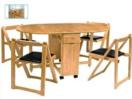 Folding Dining Table With Chairs Cool Fold Away Table And Chair Gorgeous Folding Dining Table