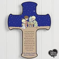 personalized crosses precious moments nativity personalized cross 14995 nativity