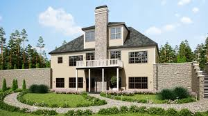 three story southern style house plan with front porch