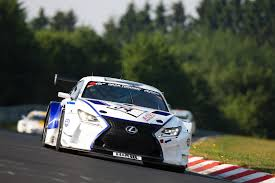 lexus rc f series lexus rc f gt3 snatches class victory on vln series debut