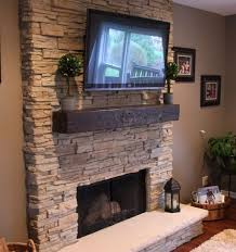 how to build a stacked stone fireplace stack stone fireplaces with plasma tv mounted for the
